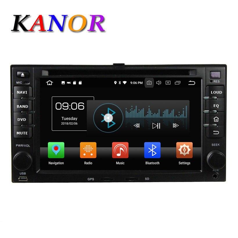 KANOR Octa base Android 8.0 4g 2din autoradio de voiture Pour KIA Sportage Cerato Sportage Ceed Sorento Rio GPS SatNavi Multimédia WIFI
