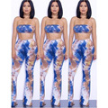 8 colors S-XL sexy tie dye printed rompers womens two piece bodycon jumpsuit 2016 summer bodysuit club wear jumpsuit playsuits