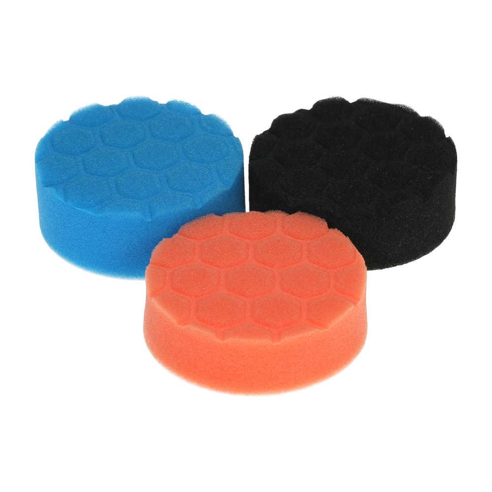 3 шт. губки для полировки машины Воском Губка для полировки Pad пены комплект для автомобиля шлифовальный прибор буфер Полировочная, шлифовальная машинка восковая уплотнительная глазурь