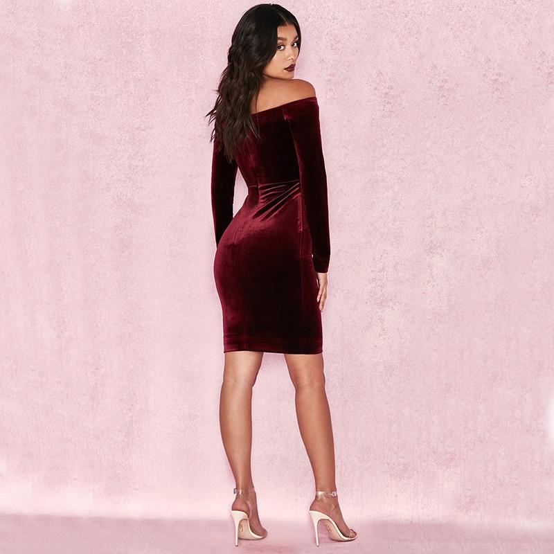 Parti Mode 2017 Gros Cou Femmes Manches Porter Rouge Midi Longues D'hiver En Vin De V Sexy À Encolure Robes Femelle 6BqaH