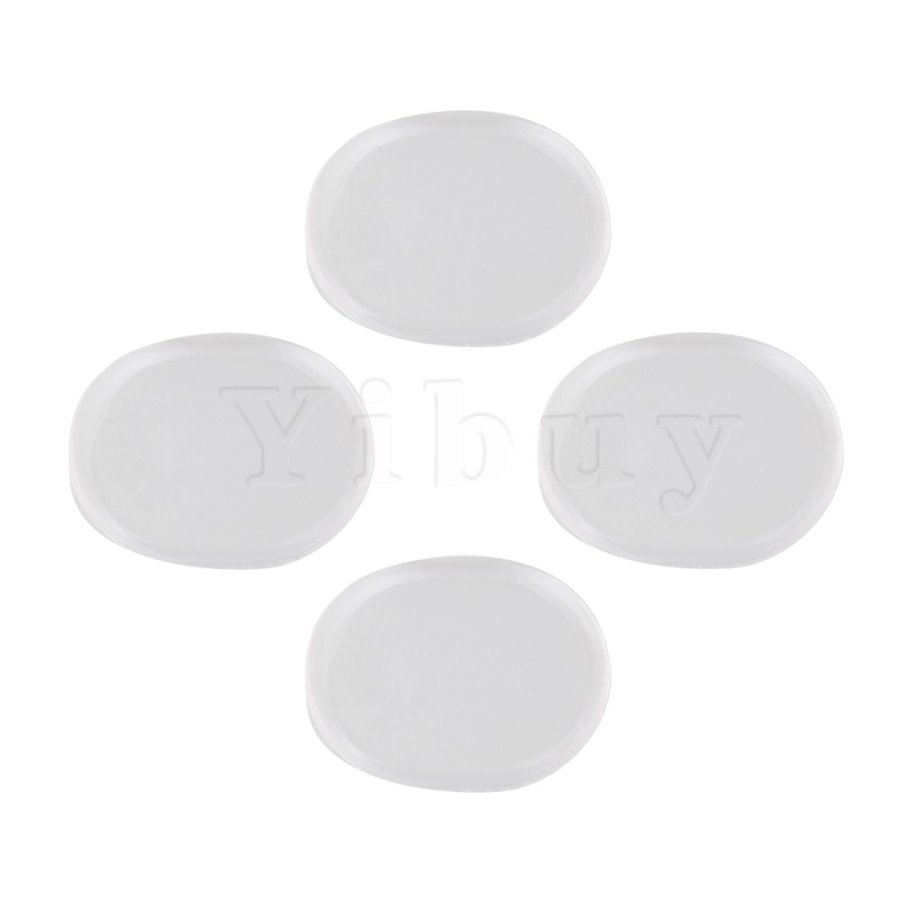 Yibuy 6 PCS Ovale Forme Silicone Tambour Silencieux Plaquettes Kits 33x25mm Transparent