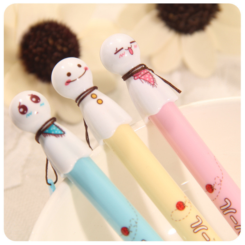6pcs new fashion cute despicable me style ballpoint pensoffice and school pen for kids children students and office hot sale