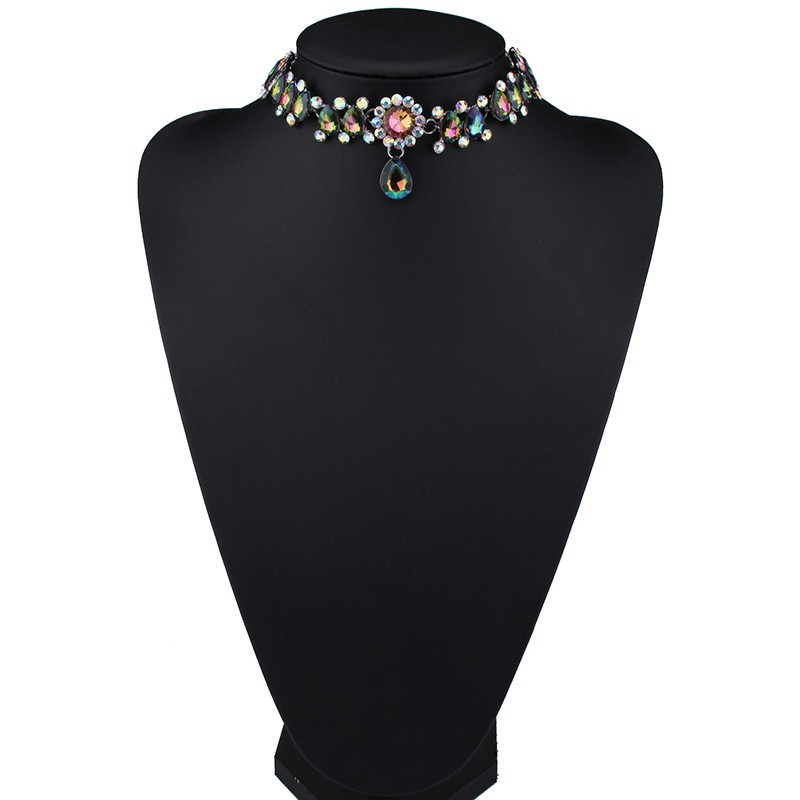 HTB1U33aOFXXXXc2XFXXq6xXFXXXG Luxurious Pearls And Crystals Statement Choker Collar Necklace With Pendant Charm - 8 Styles