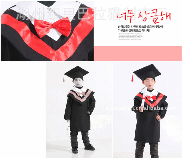 Children\'s Black Graduation Outfit Cap and Gown Outfit Costume Set ...