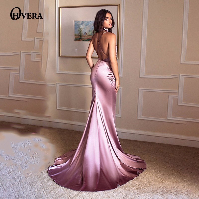 Silk Gowns For Women: Ohvera Silk Prom Elegant Party Dresses Women Maxi Long