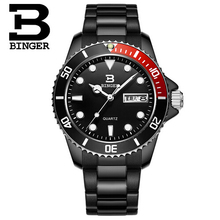 Geneva Binger New Fashion Luminous Stainless Steel Multifunction Watches Men Quartz Watch Waterproof Wristwatches Male Relojes