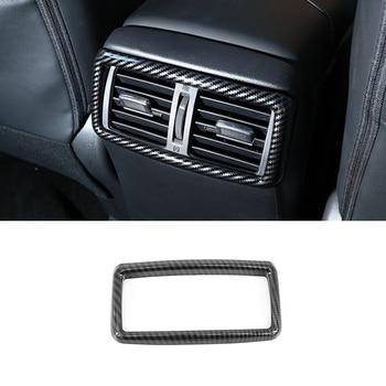 For Nissan X-Trail X Trail T32 Rogue 2014-2018 ABS Matte/Chrome/Carbon Fibre Rear Box Air AC Vent Outlet Accessories 1pcs недорого