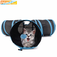 Cat Tunnel Foldable Special Design Y Shape 3 Holes Pet Play Toy For Kitten Puppy Rabbit