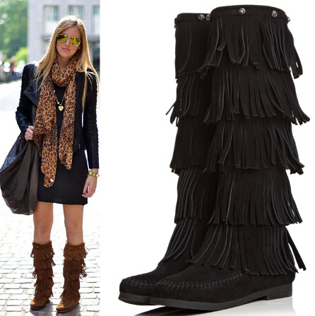 Online Get Cheap 3 Layer Fringe Boots -Aliexpress.com | Alibaba Group