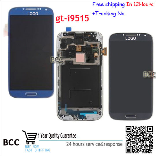 100% Test ok LCD Display For Samsung Galaxy SIV S4 Value Edition GT-I9515 I9515 i9505 i9506 With Touch Screen Frame Assembly