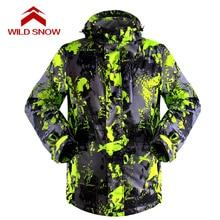 Wild Snow Man Snow Winter Ski Jacket Waterproof Windproof Warm Skiing Jackets male boy Snow Winter Outdoor Sport Coat 8 colors wild boy