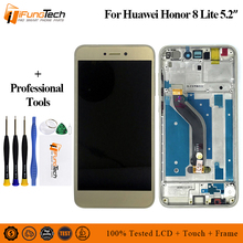 100% Tested Brand New AA LCD Display For HUAWEI Honor 8 Lite LCD Touch Screen Digitizer with Frame Original PRA-TL10 PRA LX1 LX3 все цены