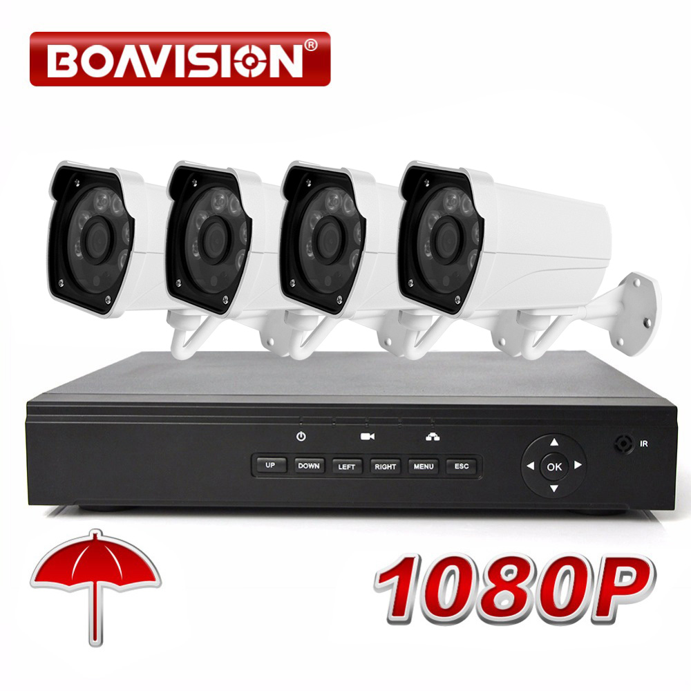 4CH Security NVR System Security CCTV POE NVR Recorder H.264 Outdoor CMOS 2MP 1080P IP Camera ONVIF Bullet +DC Power,20M Cable h 265 h 264 2mp 4mp 5mp full hd 1080p bullet outdoor poe network ip camera cctv video camara security ipcam onvif rtsp