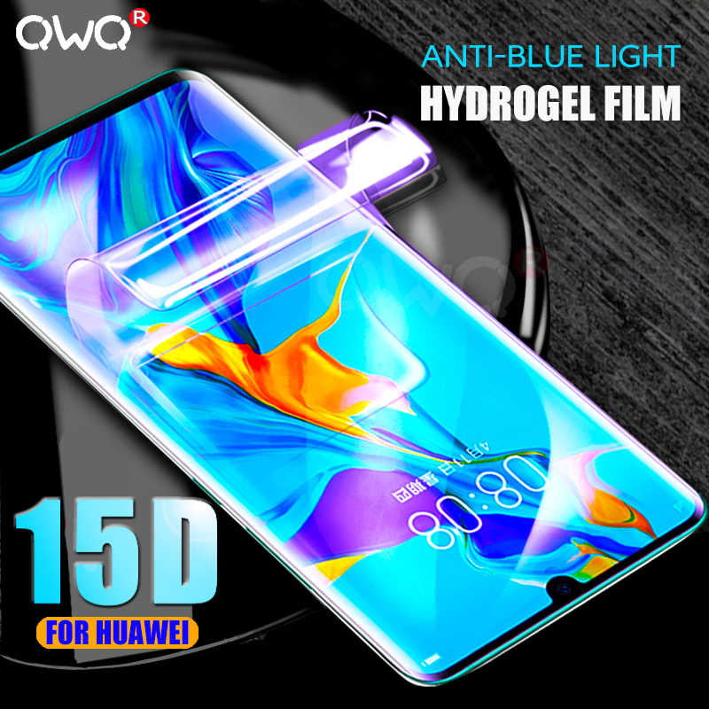 15D Anti-Blue Light Hydrogel Film For Huawei P30 P20 Pro Mate 20 10 Lite Screen Protector P Smart 2019 P30 P20 Lite not Glass
