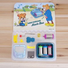 Angela's gifts Mini DIY music box one set 4 melodies 18 Note hand crank musical movements free shipping