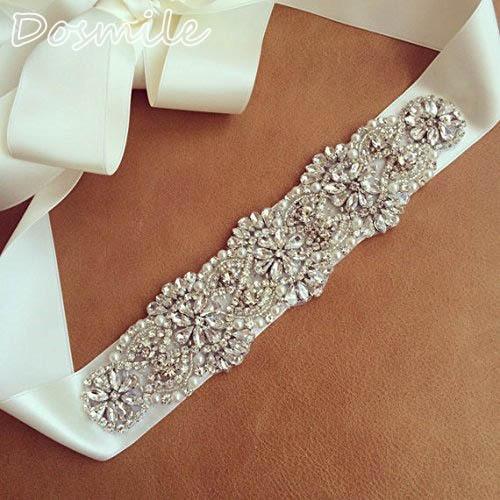 2016 Fashion Europe Style Rhinestones Bridal Sashes Handmade Dress Belt Made of Beaded Trims