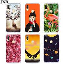 For Huawei P20 Case Soft Silicon Cover For Huawei P20 Pro Lite Phone bags Painted Phone Back Cover For Huawei P 20 Lite Pro(China)