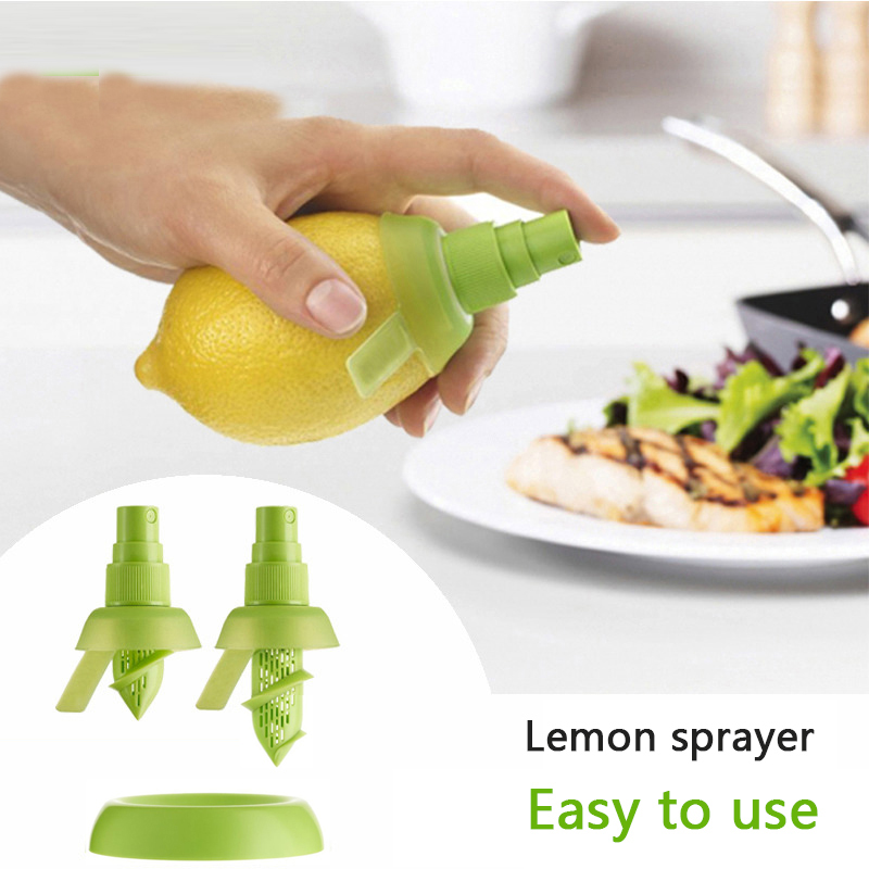 2PC lemon orange juice citrus fruit sprayer kitchen gadget portable multi functional cooking supplies meat seasoning