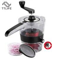 TTLIFE 4 In 1 Vegetable Cutter Adjustable Spiral Slicer Grater Fruit Shredder Rotary Cutting Machine Kitchen