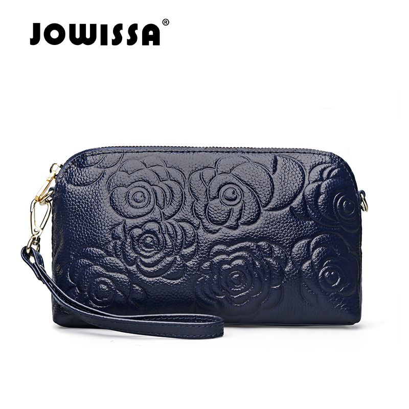 ФОТО JOWISSA Top Selling Genuin Leather Women's Day Clutches Fashion Evening Bag for Women High Quality Cowhide Handbag for Female