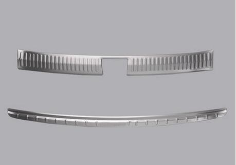 Nouveau Style pour KIA Sorento L 2015 2016 2017 accessoires en acier inoxydable protecteur de pare-chocs arrière plaque de seuil garniture 2 pièces