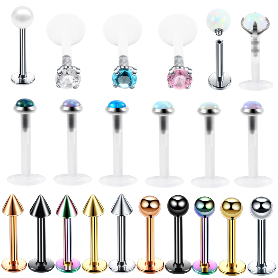 Coeur Lustre BELLY NAVEL BUTTON RING Clear 14 g