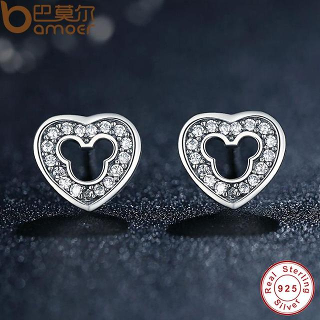 Sterling Silver Heart Shape Stud Earrings