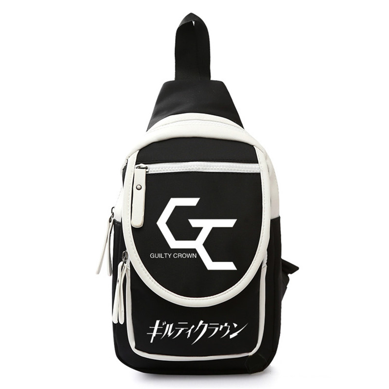 New Guilty Crown Chest Bags Fashion Nylon Ouma Shu Cosplay Travel Shoulder Crossbody Bag Sling Back Pack