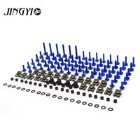 Universal Motorcycle Body Fairing Bolts Kit Screw Fastener Full Set FOR kawasaki zzr 250 zx6r 2000 2002 yamaha fz1n