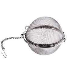 2PCs 304 Stainless Steel Spice Ball With Chain Visible Soup Brine Filter Stew Seasoning Storage Box Kitchen Cooking Tool