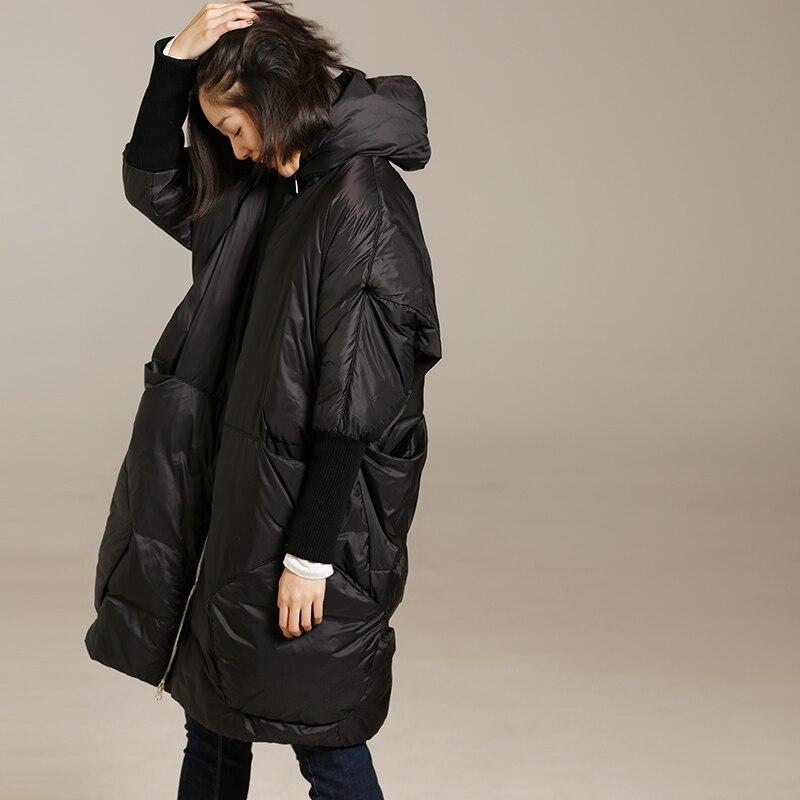 Y6218 Literarischen große größe multi tasche manschette in eine lange dicke warme unten jacke weibliche-in Daunenmäntel aus Damenbekleidung bei  Gruppe 2