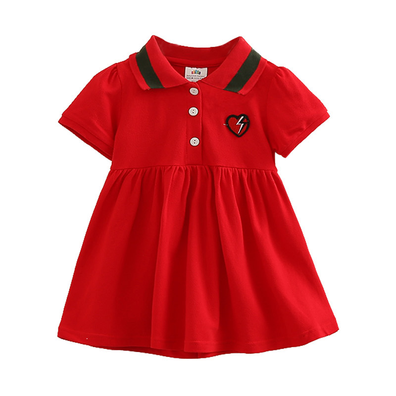 2 3 4 5 6 7 Years <font><b>Dresses</b></font> Kids Cotton Embroidery Lapel Tennis <font><b>Dress</b></font> for Baby <font><b>Girls</b></font> Cute <font><b>T</b></font>- <font><b>Shirts</b></font> Toddler <font><b>Girl</b></font> Sundress image