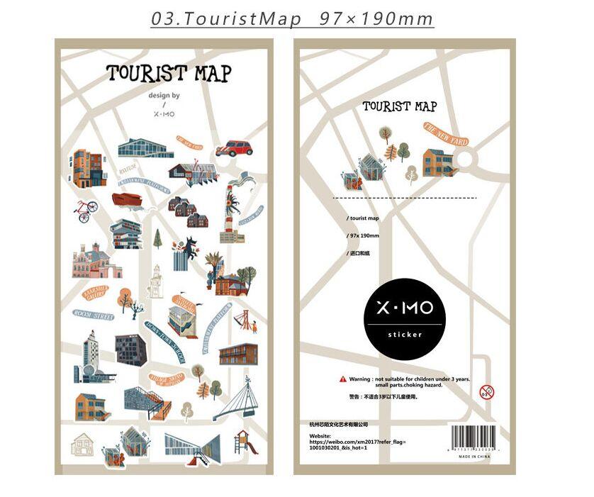 Tourist map sticker