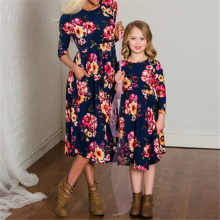 Платья для мамы и дочки; семейная одежда; платье для родителей и детей; одинаковые комплекты для семьи; нарядная одежда принцессы для маленьких девочек; платье с цветочным рисунком