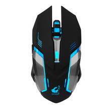 VOBERRY Wireless 2.4GHz Mouse Silent LED Backlit Optical Mice 6 Buttons 1600DPI Rechargeable Gaming Ergonomic Mice For Laptop DD