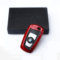 QHCP Carbon Fiber Protective Remote Key Fob Case Cover Key Holder Key Shell For BMW 1 2 3 4 5 6 7 Series F20 F30 F10