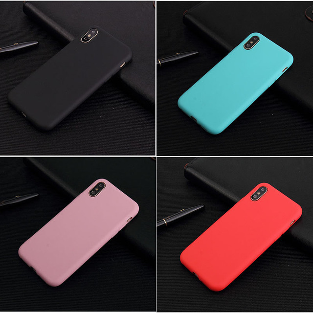 check out 539ca 4395e US $0.98 |UVR Ultra thin Matte Plain Phone Case for Iphone X/XS  Pink/Red/Blue Candy Style Tpu Soft Shell for IPhone 6/7/8 Plus Back  Cover-in Fitted ...