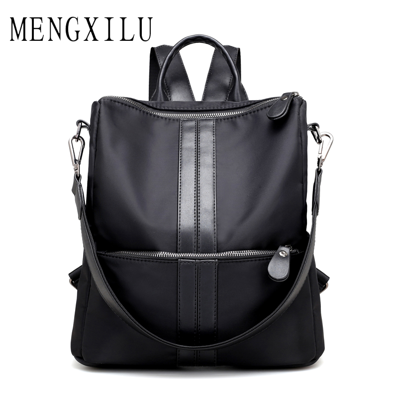MENGXILU Canvas Female Backpack Women Bag Preppy Style Travel Backpack Big Capacity Lady School Bags For Teenagers New Sac A Dos british style printing vintage backpack female cartoon school bag for teenagers high quality pu leather backpack sac a dos femme