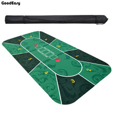 2.4m Deluxe Suede Rubber Texas Holdem Poker Tablecloth with Flower Pattern Casino Poker Set Board Game Mat Poker Accessory