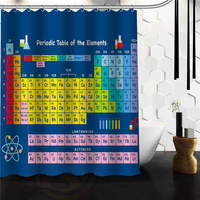 Periodic Table Of The Elements White Waterproof Shower Curtain 48 W X 72 H 60 W