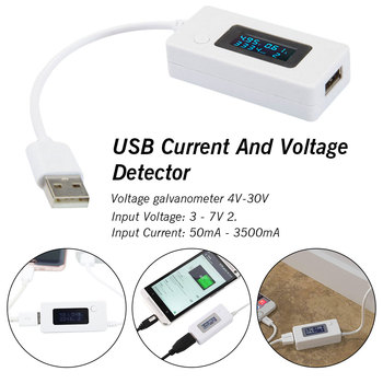 цена на 1Pc LCD Digital Phone USB Tester Portable Battery Detector Voltage Current Meter Mobile Power Charger