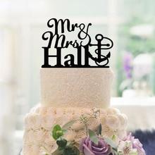 Mr & Mrs Wedding Decoration Cake Toppers Custom Acrylic Cake decorating tools