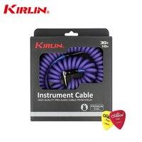 High Quality Kirlin 10M PRO Audio Cable Premium Coil Instrument Cable Electric Guitar /Bass Line Instrument Cable Line Copper