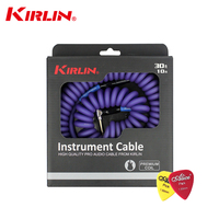 High Quality Kirlin 10M PRO Audio Cable Premium Coil Instrument Cable Electric Guitar Bass Line Instrument