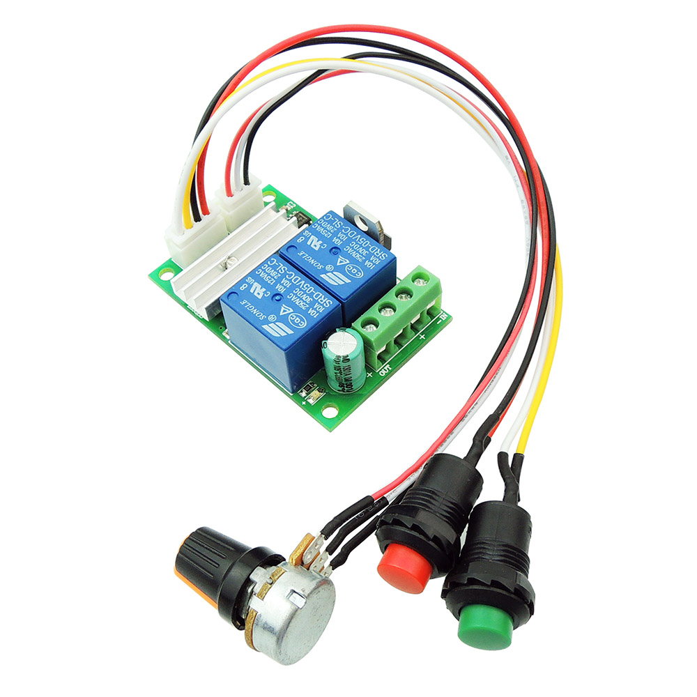 PWM Speed Adjustab uniquegoods 6V 12V 24V 28V 3A 80W DC Motor Speed Controller