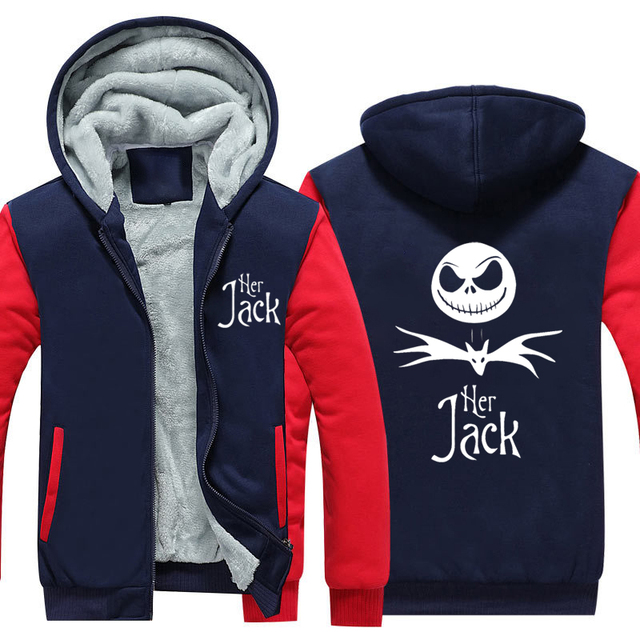 Nightmare Before Christmas Sally Jack Skellington Thicken Hoodie