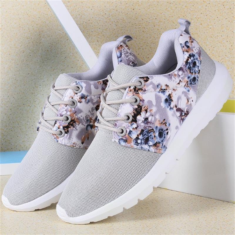 Flor 2018 Zapatos Malla black Transpirable Señoras Femenino Impresión Pink De Pisos gray Byd95 Casual Ocio La Verano Primavera Mujeres r0Bp085