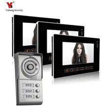 Yobang Security freeship 9 inch Video doorphone system Apartment Video intercom home security Wired intercom for private house
