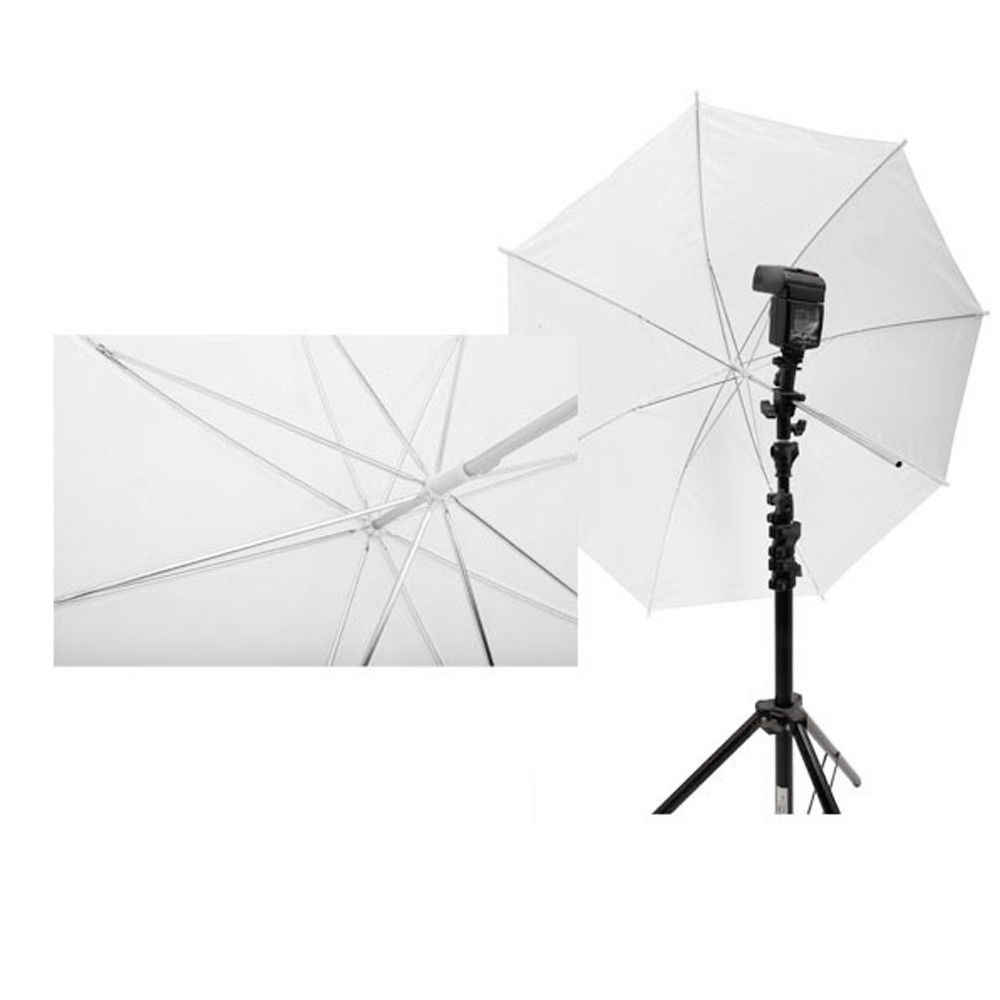 Nowy 2 sztuk 33in 83cm Flash półprzezroczysty biały miękki parasol akcesoria do studia fotograficznego