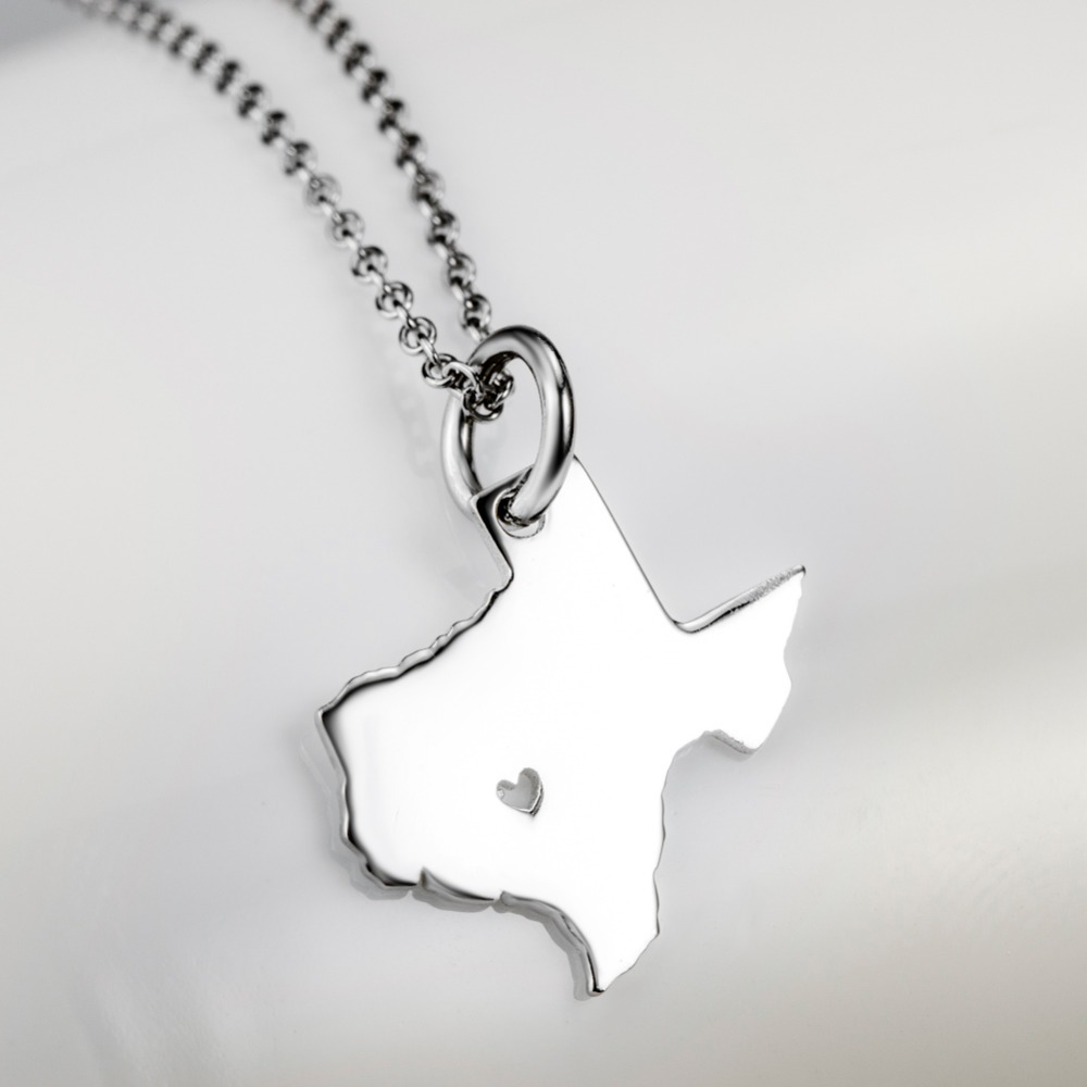 925 sterling silver diy usa state pendants necklaces personalized 925 sterling silver diy usa state pendants necklaces personalized texas state custom map necklace with chain charm necklace in necklaces from jewelry aloadofball Gallery